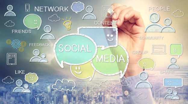 Social Media images and texts