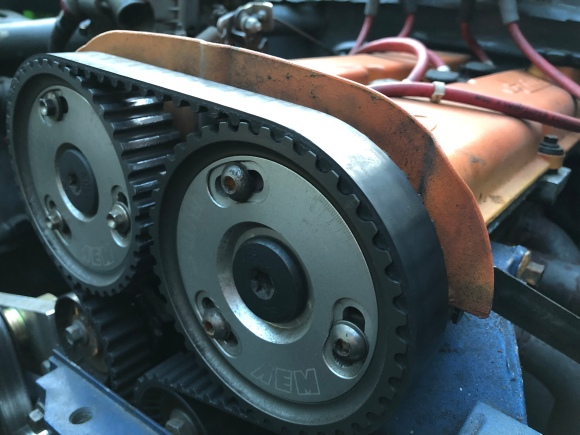 The cam gears on a 2.0 ford mottor