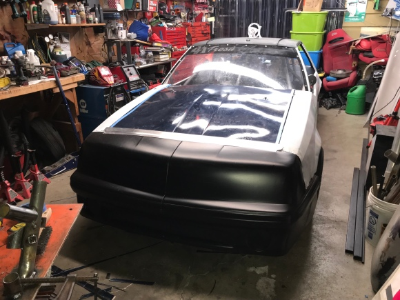 Before the painting of the Race Car for Evergreen Speedway
